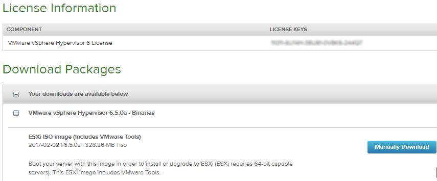 получение бесплатной лицензии на vmware esxi