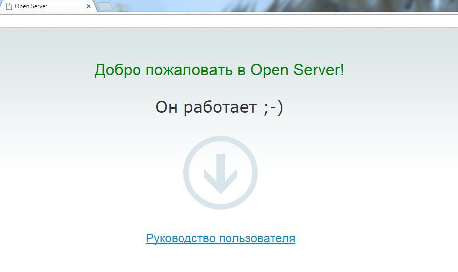 openserver работает