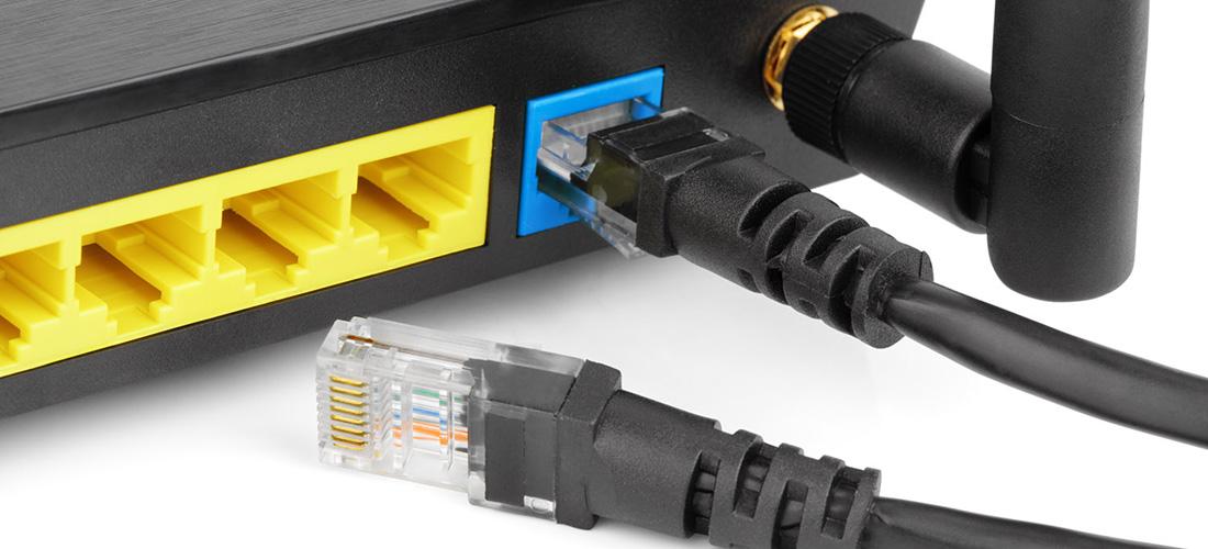 подключение кабеля к роутеру