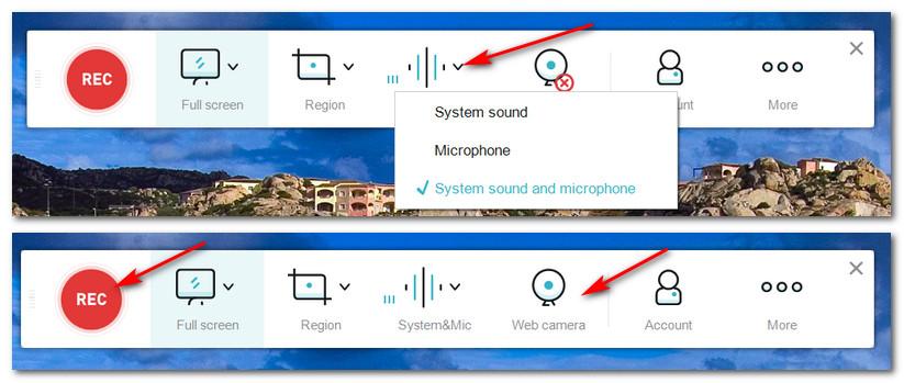 настройка источников звука и вебкамеры в