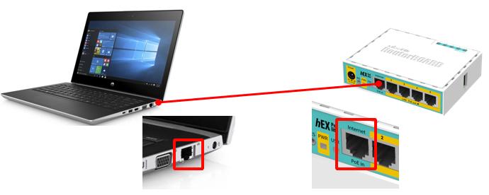 подключение mikrotik для прошивки netinstall